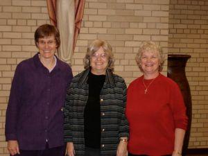 Liz Hill, Ruthie Rosauer, Helen Gierke